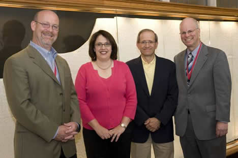 Thomas E. Gilbertsen, JD '89, Jennifer C. Carroll Archie, JD '89, Anthony Radice, AB '66, JD '69 and Dean Schwab.