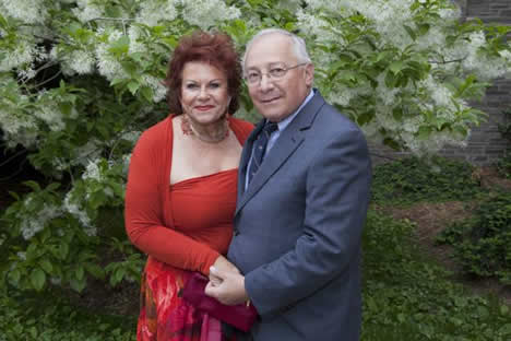 Claire Goldberg and Neil Abelson, LL.B '64.